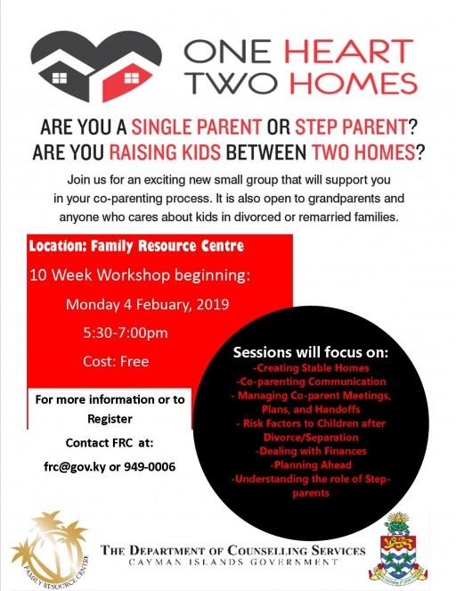 Co-Parenting Workshop starts 4 February - Register Today!