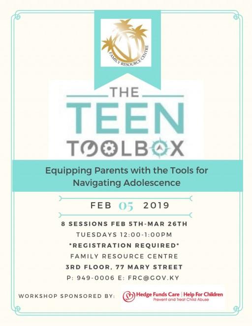 Teen Tool Box starts 5 February - Register Now!