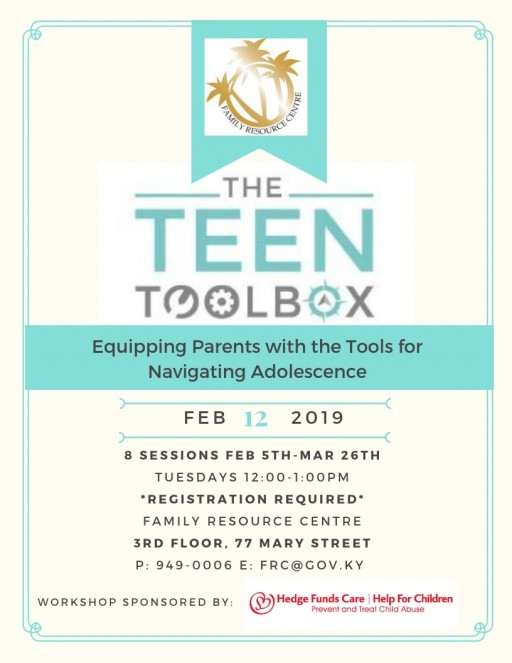 Teen Tool Box starts 12 February - Register Now!